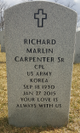 Richard Marlin Carpenter, Sr