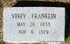 """Elviney """"Viney"""" <I>Burkett</I> Franklin"""