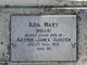"Profile photo:  Ada Mary ""Mollie"" Austen"