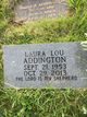 """Profile photo:  Laura """"Lou"""" Addington"""
