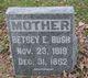 Profile photo:  Betsey E. <I>Stebbins</I> Bush