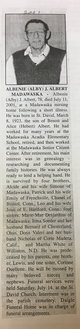 "Profile photo:  Albenie Joseph ""Alby"" Albert"