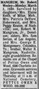 Robert W. Mangrum Sr.
