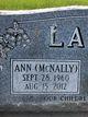 Ann <I>McNally</I> Ladwig