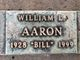 "Profile photo:  William L. ""Bill"" Aaron"