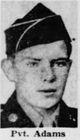 Profile photo: Pvt Robert W Adams, Jr
