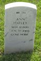 Ann Laura <I>Livesay</I> Hatley