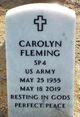 Profile photo:  Carolyn Fleming