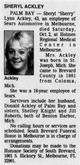 "Profile photo:  Sheryl Lynn ""Sherry"" <I>Sink</I> Ackley"
