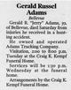 Profile photo:  Gerald Russell Adams, Sr