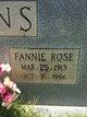 Fannie Rose <I>Brown</I> Atkins