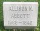 Profile photo:  Allison N Abbott