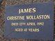 Christine Wollaston James