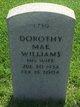 Profile photo:  Dorothy Mae <I>Campbell</I> Williams
