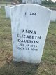 Anna Elizabeth <I>Redmond</I> Daulton