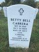 Betty Jo <I>McCoy</I> Bell-Cabrera