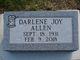 Profile photo:  Darlene Joy Allen
