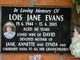 Lois Jane <I>Gillard</I> Evans