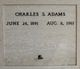 Profile photo:  Charles S. Adams