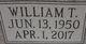 """William T """"Bill"""" Quick"""