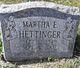 Martha Eleanor <I>McNichols</I> Hettinger