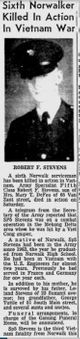 Spec Robert Francis Stevens
