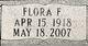 Profile photo:  Flora Frances <I>Wilson</I> Bain