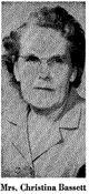 Profile photo:  Christine Russell <I>Steedman</I> Bassett