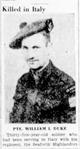 Profile photo: Pvt William Ivan Duke