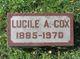 Lucile A Cox