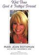 Profile photo:  Mari Jean <I>Sands</I> Rothman