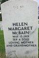 Helen Margaret <I>Hannegraf</I> McBain