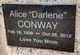 "Alice ""Darlene"" Conway"