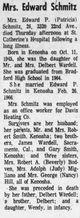 Patricia Joanne <I>Wardell</I> Schmitz