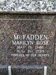 Marilyn Rose McFadden