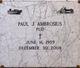 """Profile photo:  Paul """"Pud"""" Ambrosius"""