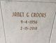 Janet G. Crooks