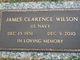 Profile photo:  James Clarence Wilson
