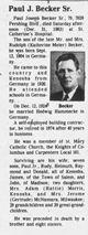 Paul J Becker Sr.