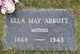 Profile photo:  Ella May <I>Parsley</I> Abbott