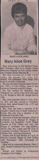 Mary Alice Jackson <I>Briggs</I> Grey