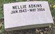 Profile photo:  Nellie <I>Hall</I> Adkins