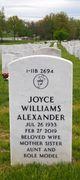 Profile photo:  Joyce W. Alexander