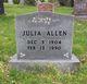 Profile photo:  Julia <I>Shuman</I> Allen