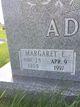 Profile photo:  Margaret E. <I>Blakely</I> Adams