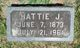 Profile photo:  Hattie Josephine Adams