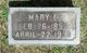 Profile photo:  Mary E. <I>Taylor</I> Adams