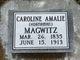 Caroline Amalie <I>Hornaman</I> Magwitz