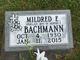 Mildred E. <I>Mueller</I> Bachmann