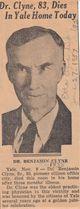 Profile photo: Dr Benjamin Clyne I